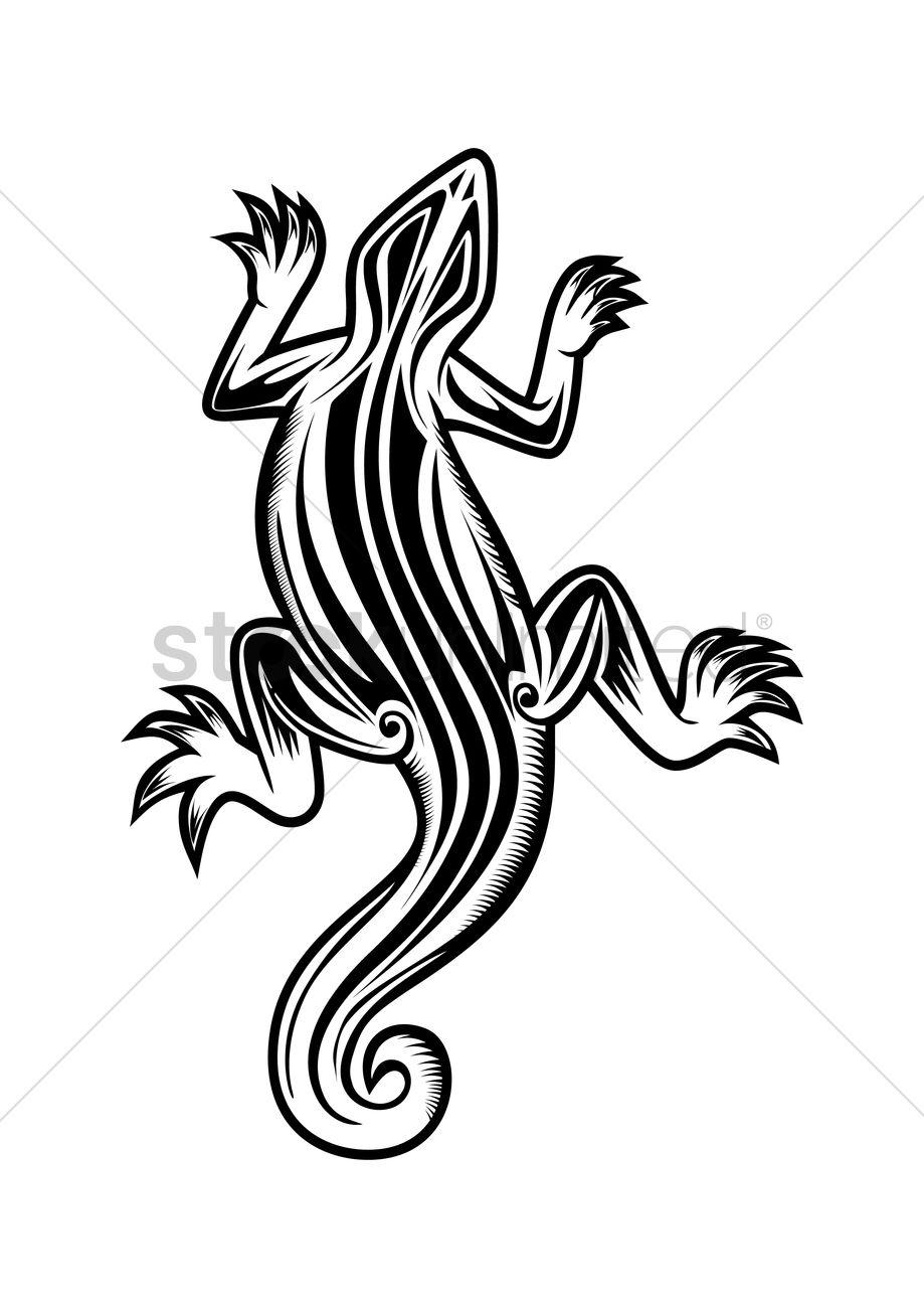 c3c21985f Lizard tattoo Vector Image - 1467446   StockUnlimited