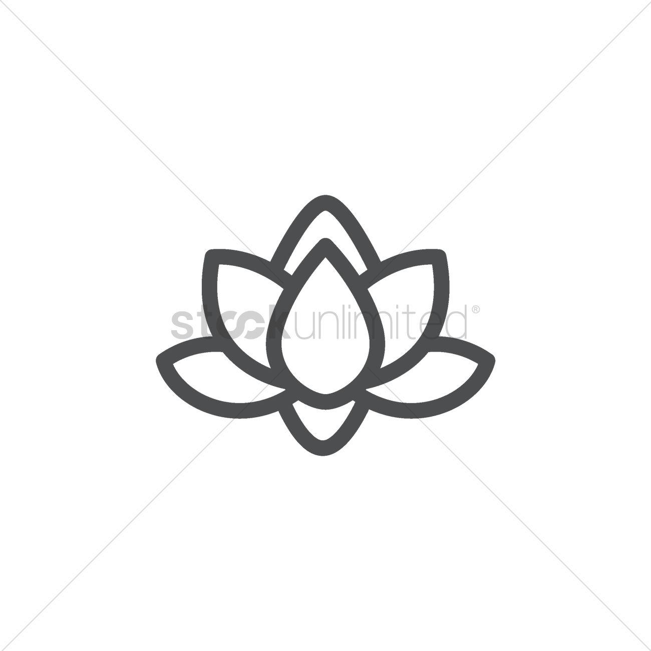 Lotus Flower Vector Image 1967894 Stockunlimited