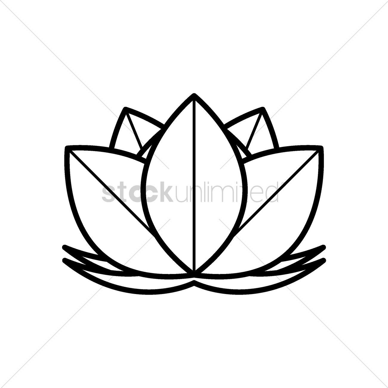 Lotus Flower Vector Image 1968406 Stockunlimited