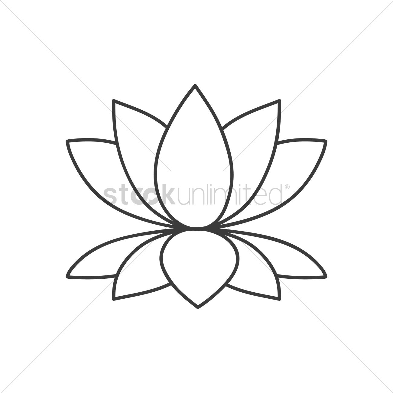 Lotus flower vector graphic flowers healthy lotus flower vector graphic lotus flower vector image 1970754 stockunlimited izmirmasajfo