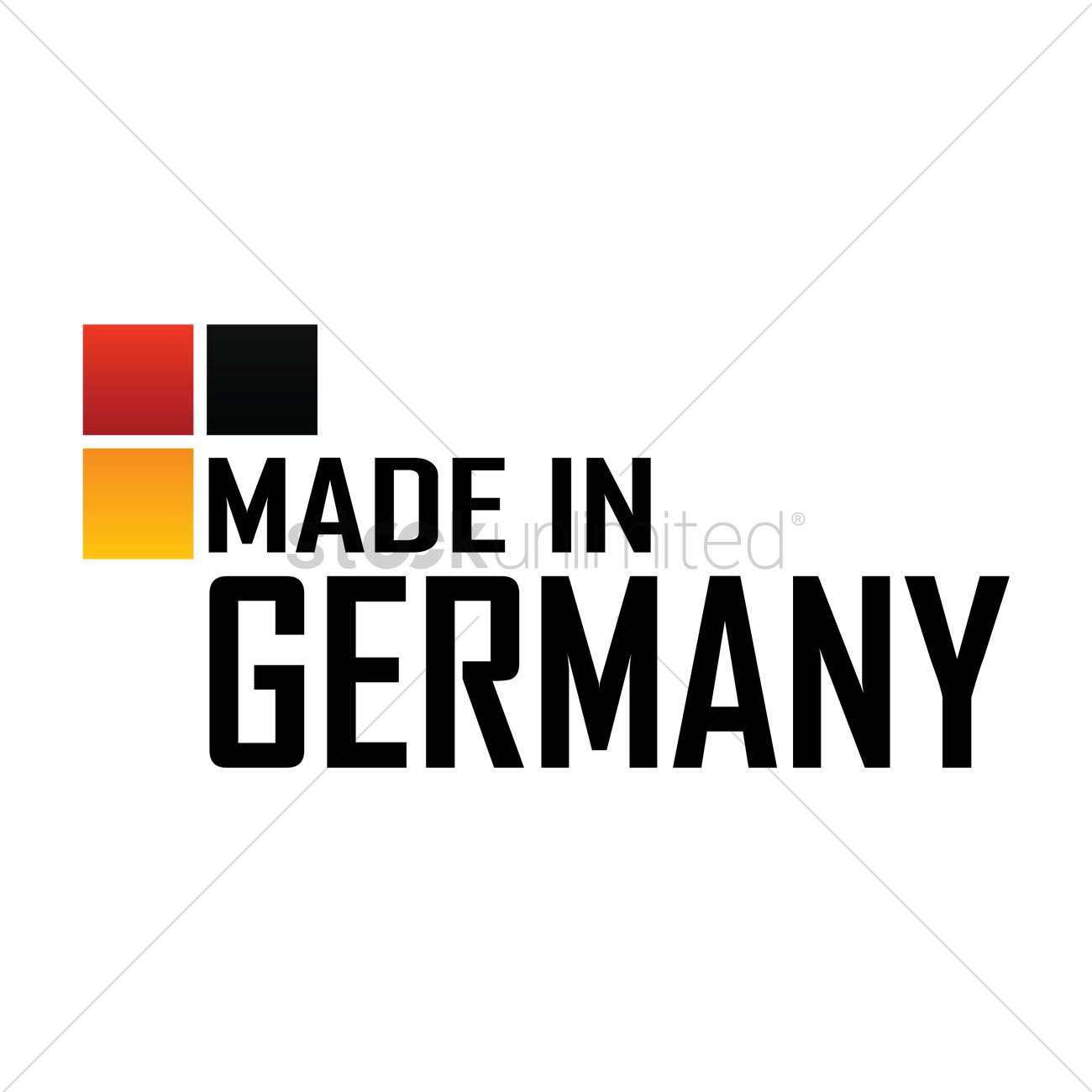 Made In Germany Label Design Vector Image 1976810 Stockunlimited