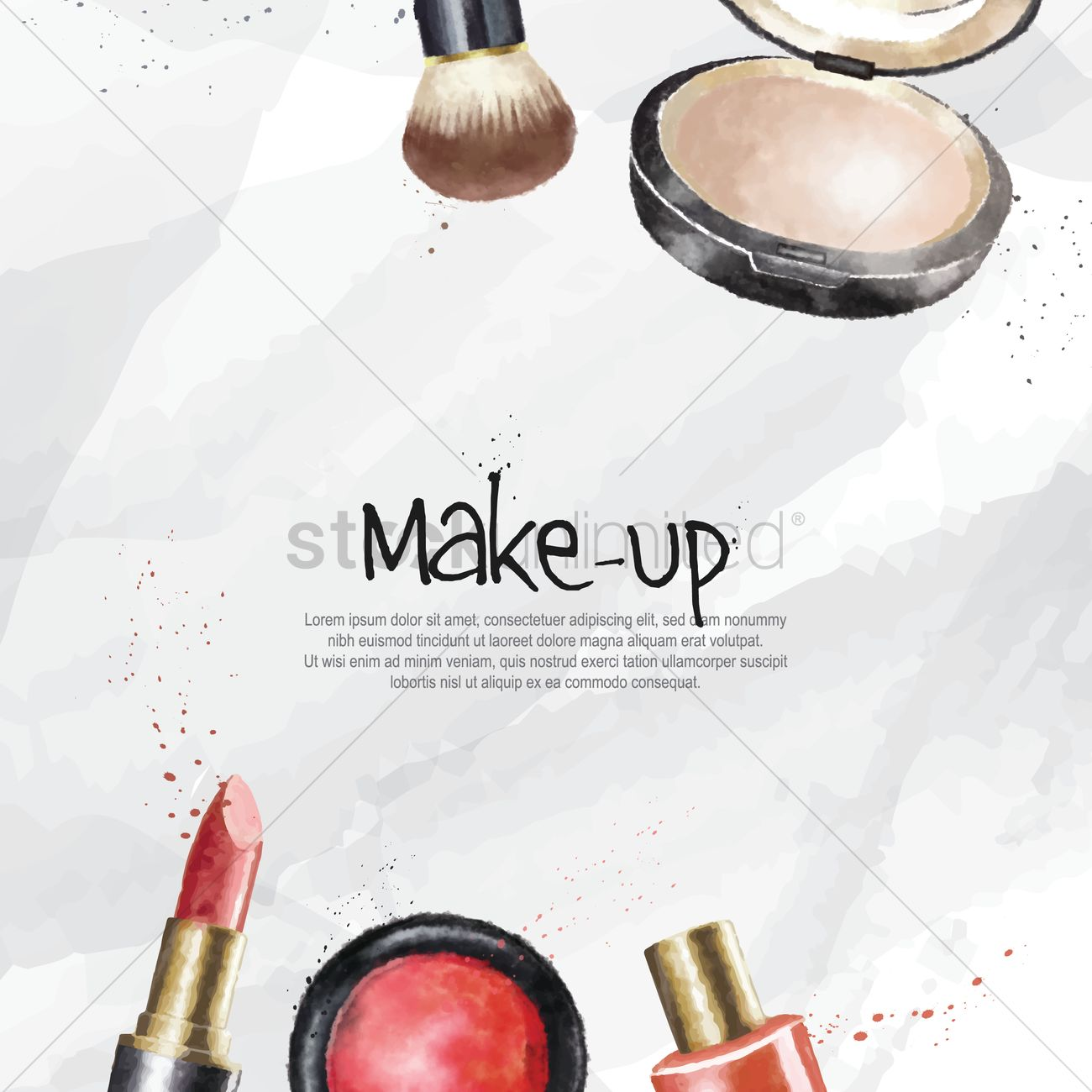 make up cosmetics wallpaper vector image 1825806