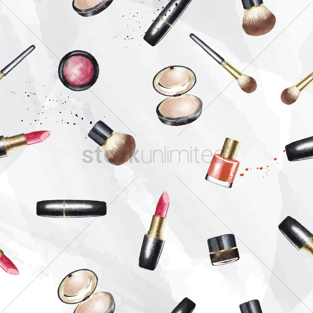 make up cosmetics wallpaper vector image 1825810