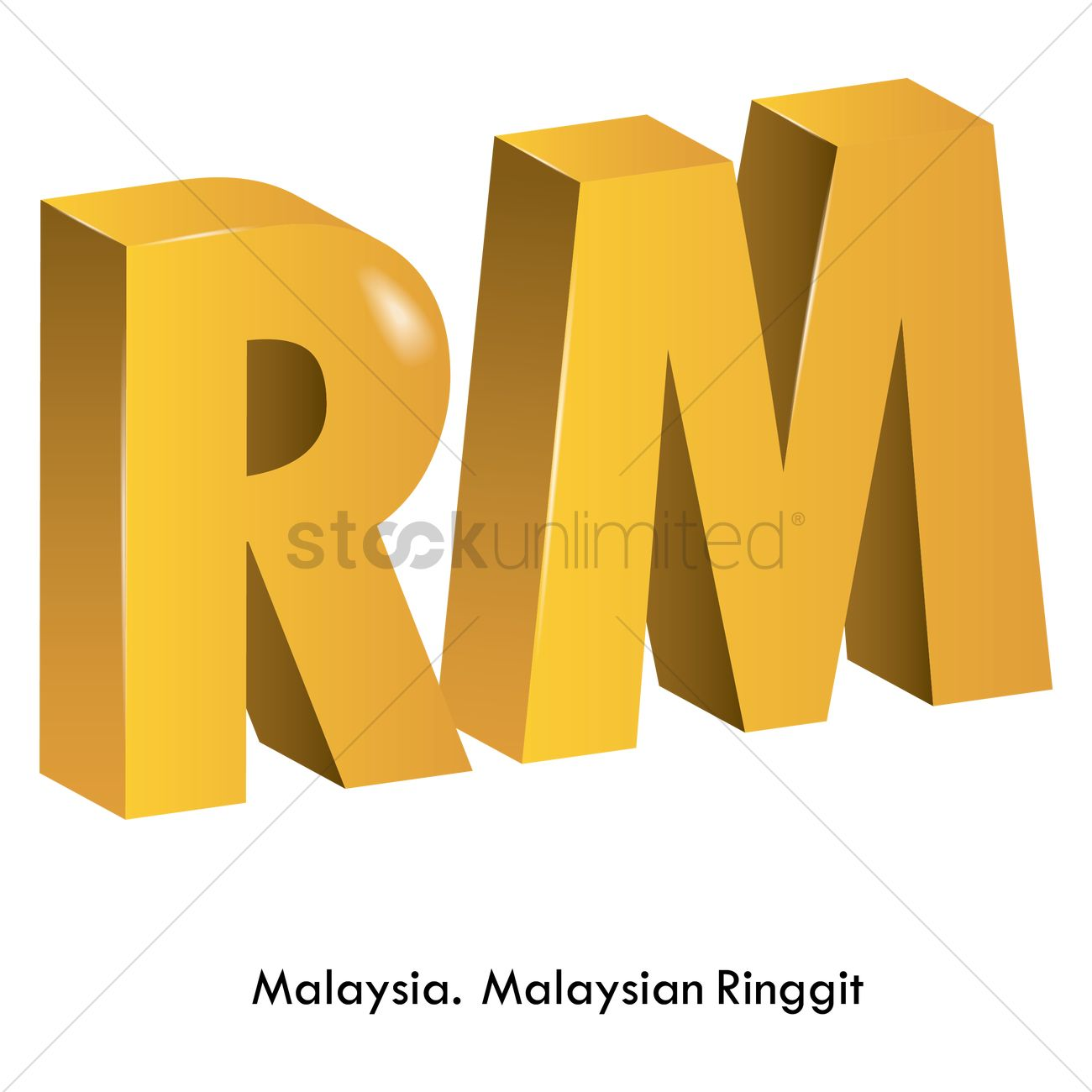 Malaysian Ringgit Currency Vector Image 1821518 Stockunlimited