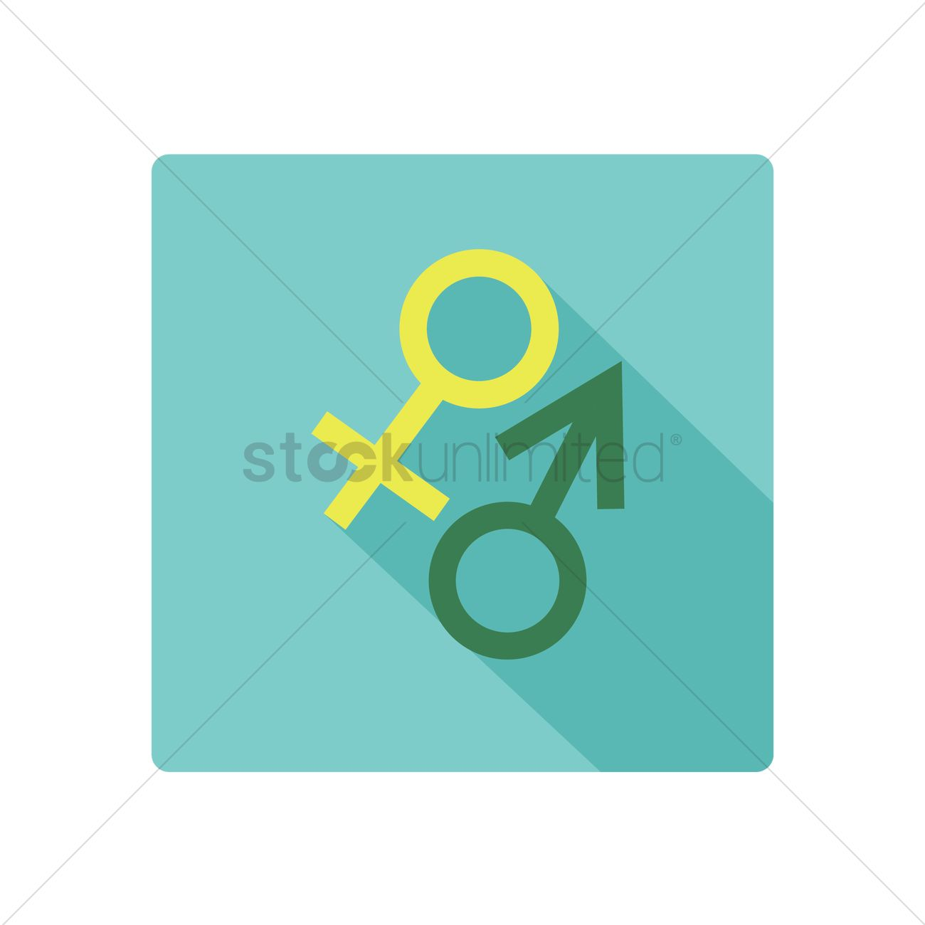 Male And Female Symbols Vector Image 1375290 Stockunlimited