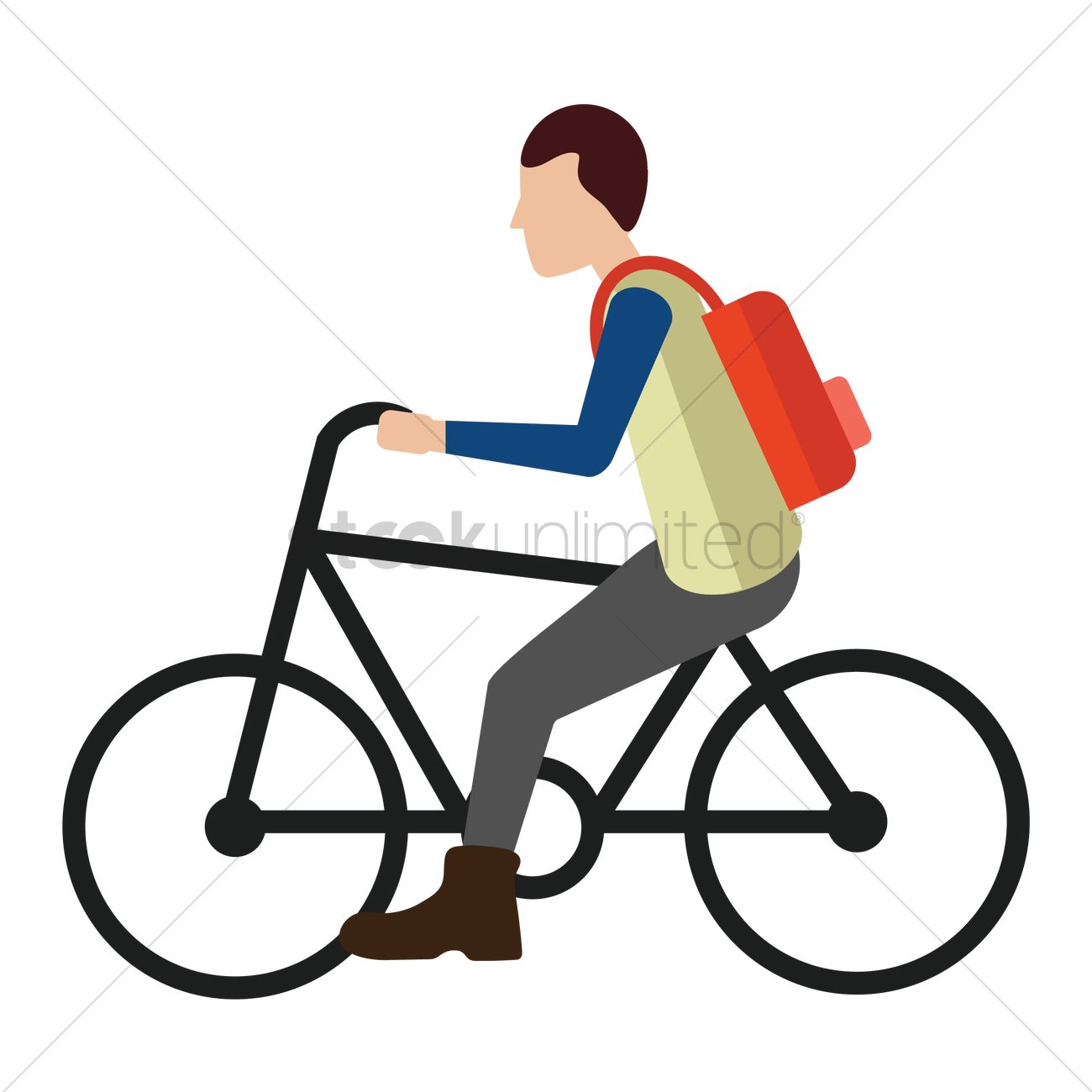 Person Riding Bike Clipart - Bicycling and the Best Bike Ideas