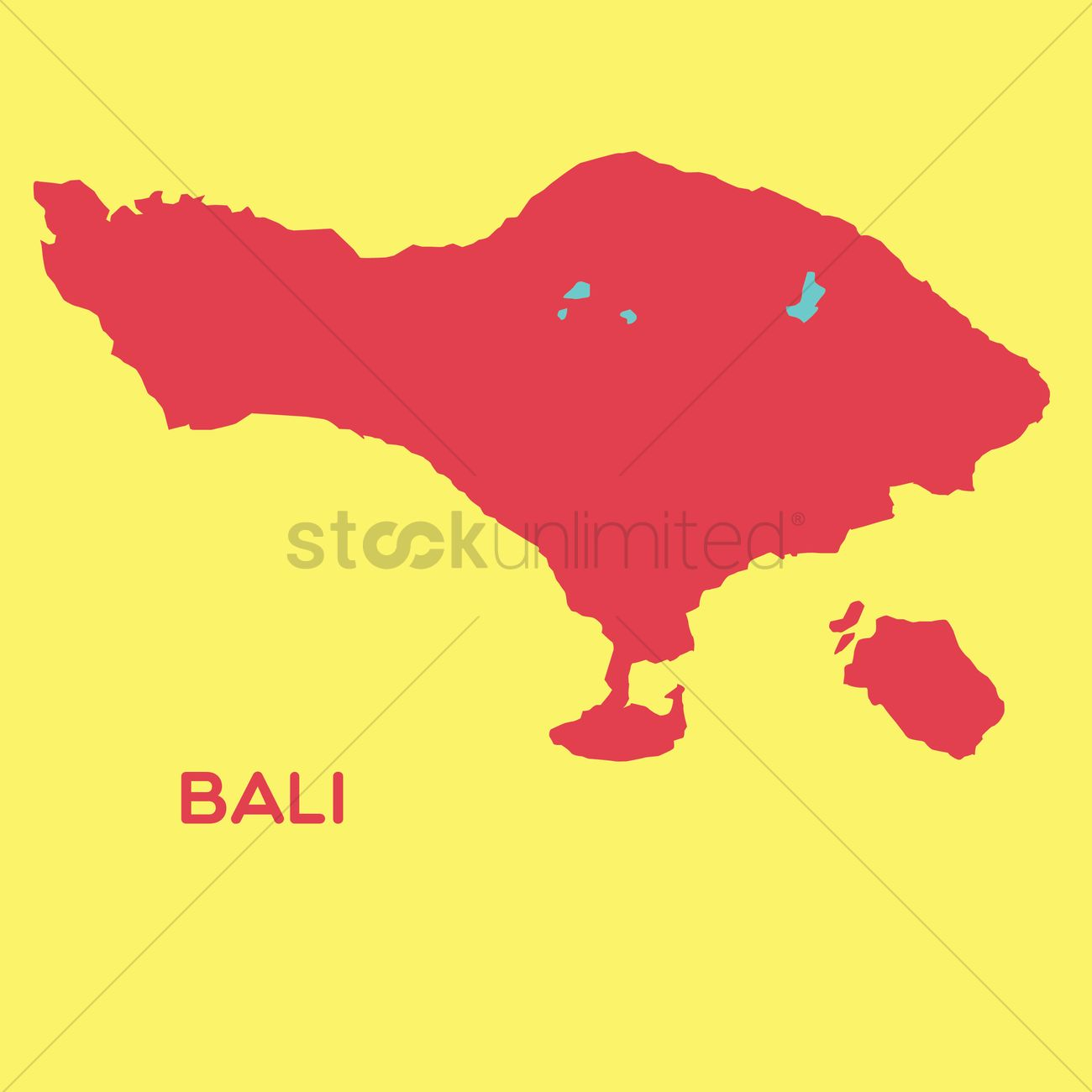 Map Of Bali Vector Image 1480426 Stockunlimited