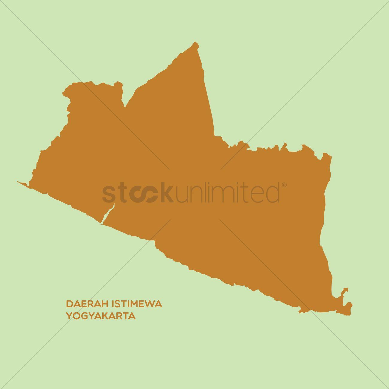 Map of daerah istimewa yogyakarta Vector Image - 1480414 ...