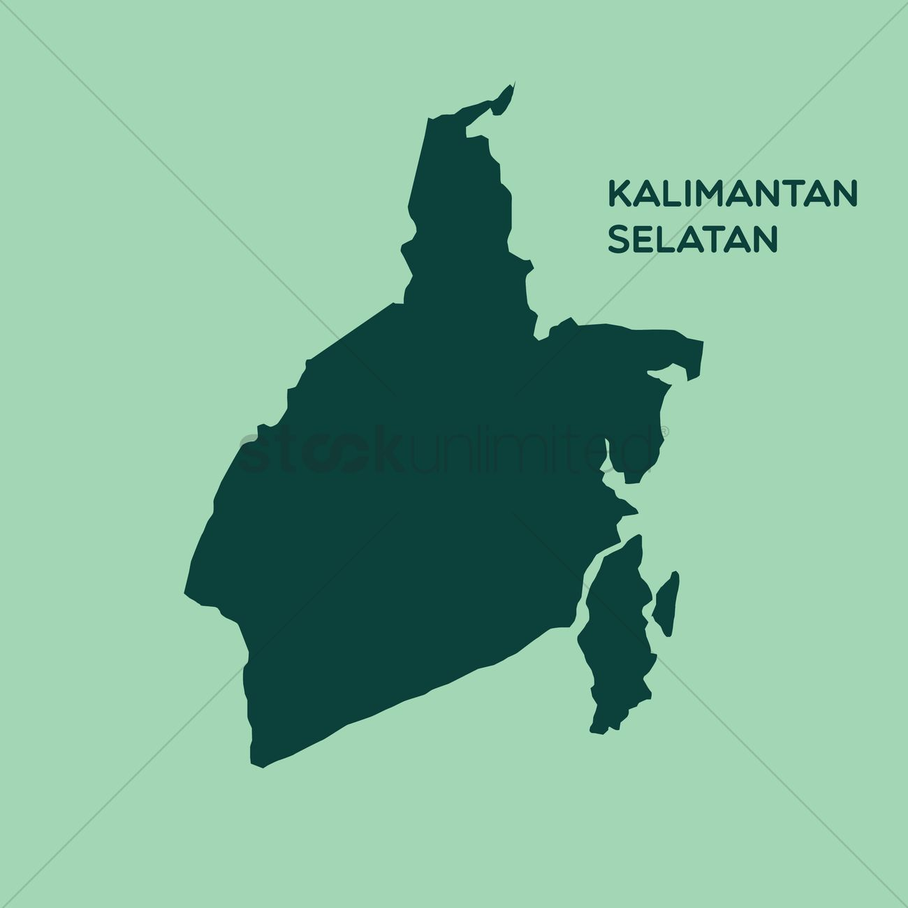 map of kalimantan selatan vector image 1480450 stockunlimited map of kalimantan selatan vector image