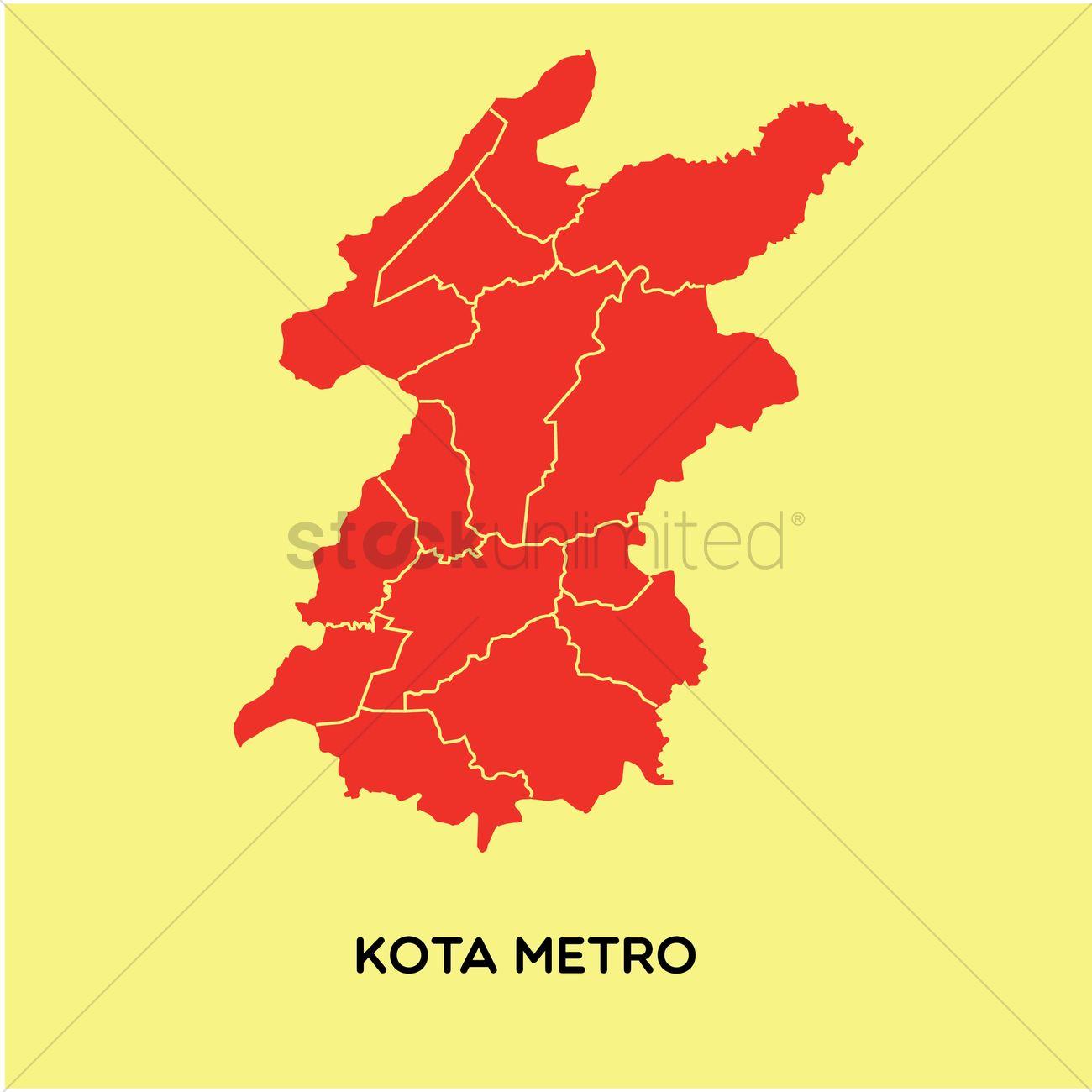 Map Of Kota Metro Vector Image 1480282 Stockunlimited