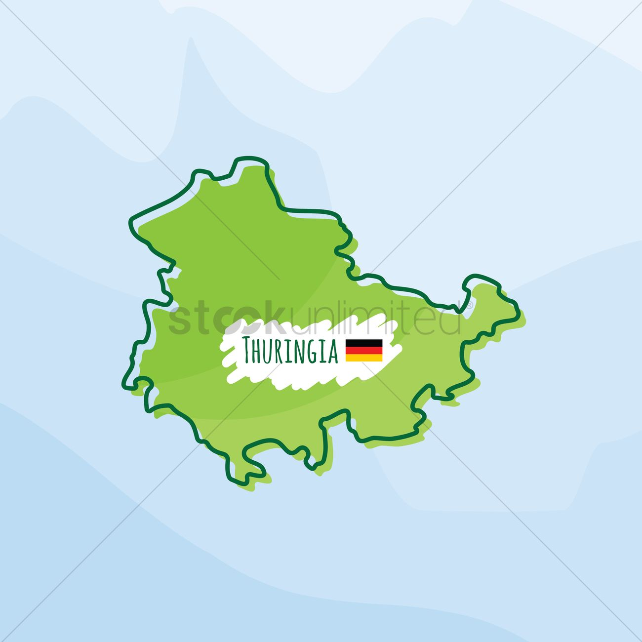 Map Of Germany 1980.Map Of Thuringia Germany Vector Image 1980530 Stockunlimited