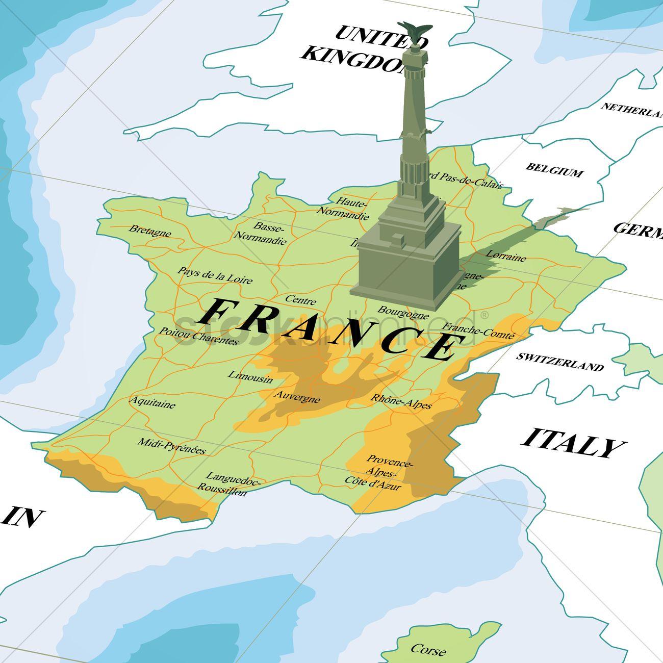 Map with place de la bastille Vector Image 1587594 StockUnlimited