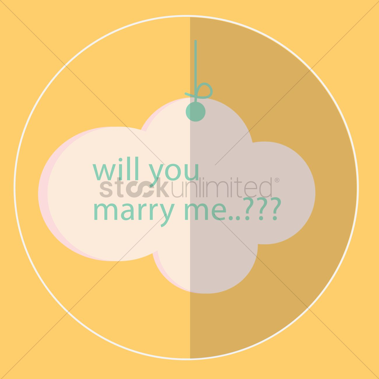 Marriage proposal card Vector Image - 1476686 | StockUnlimited