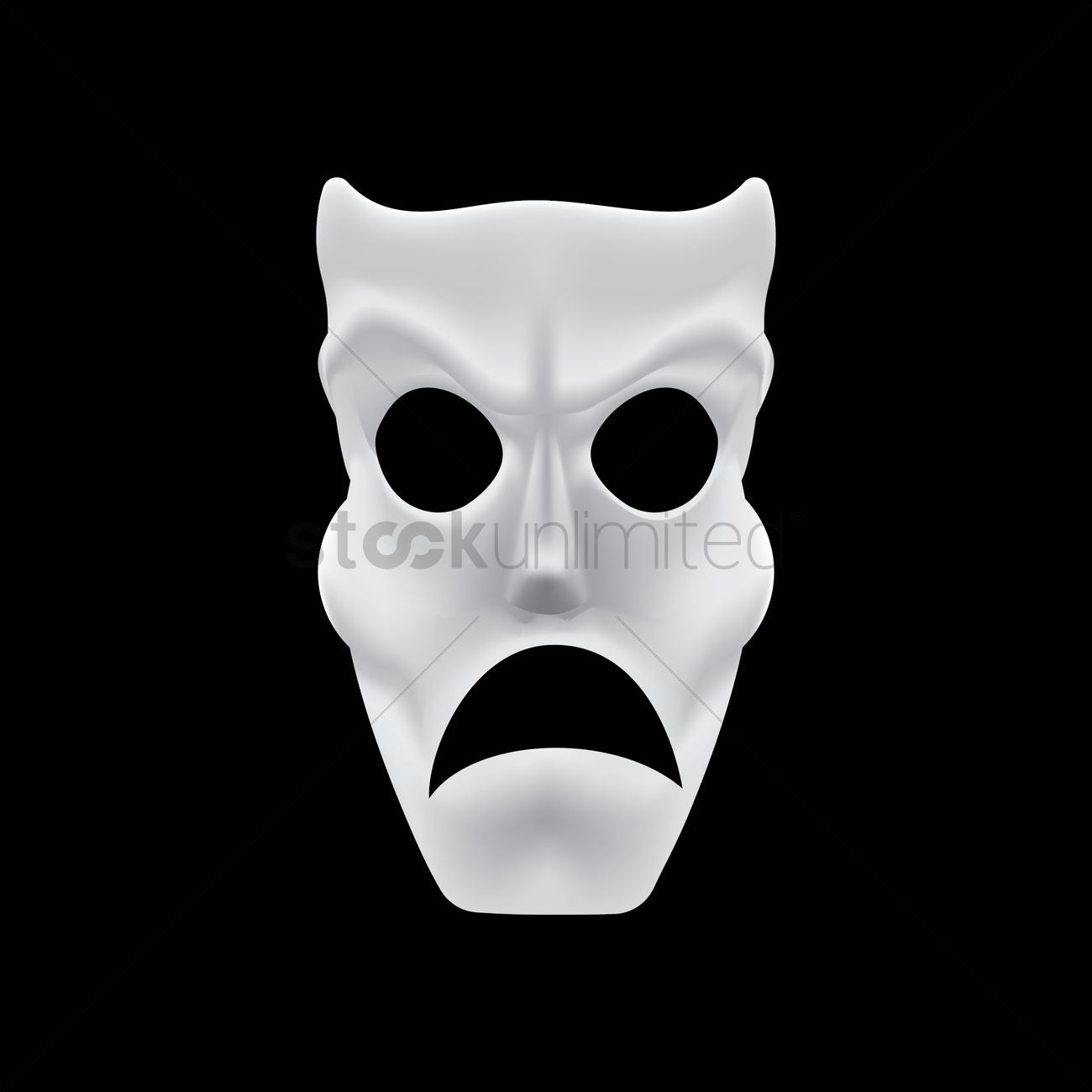 Mask with angry expression Vector Image - 1511210  a8206fef6830