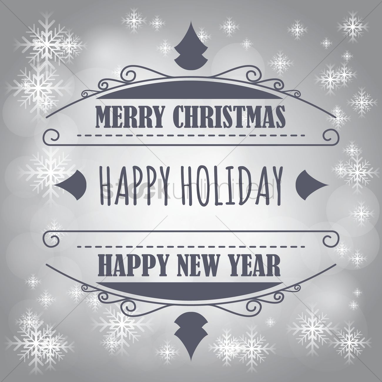 Free Merry christmas and new year greetings Vector Image - 1603982 ...