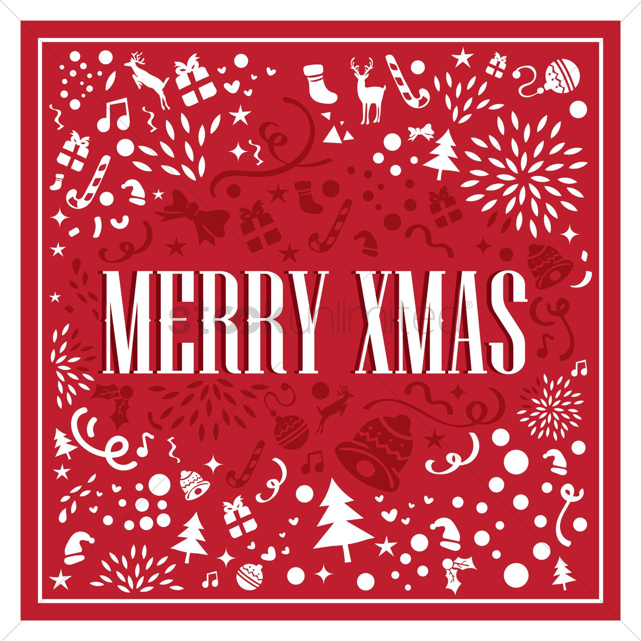 merry x-mas card design vector image - 1745438 | stockunlimited