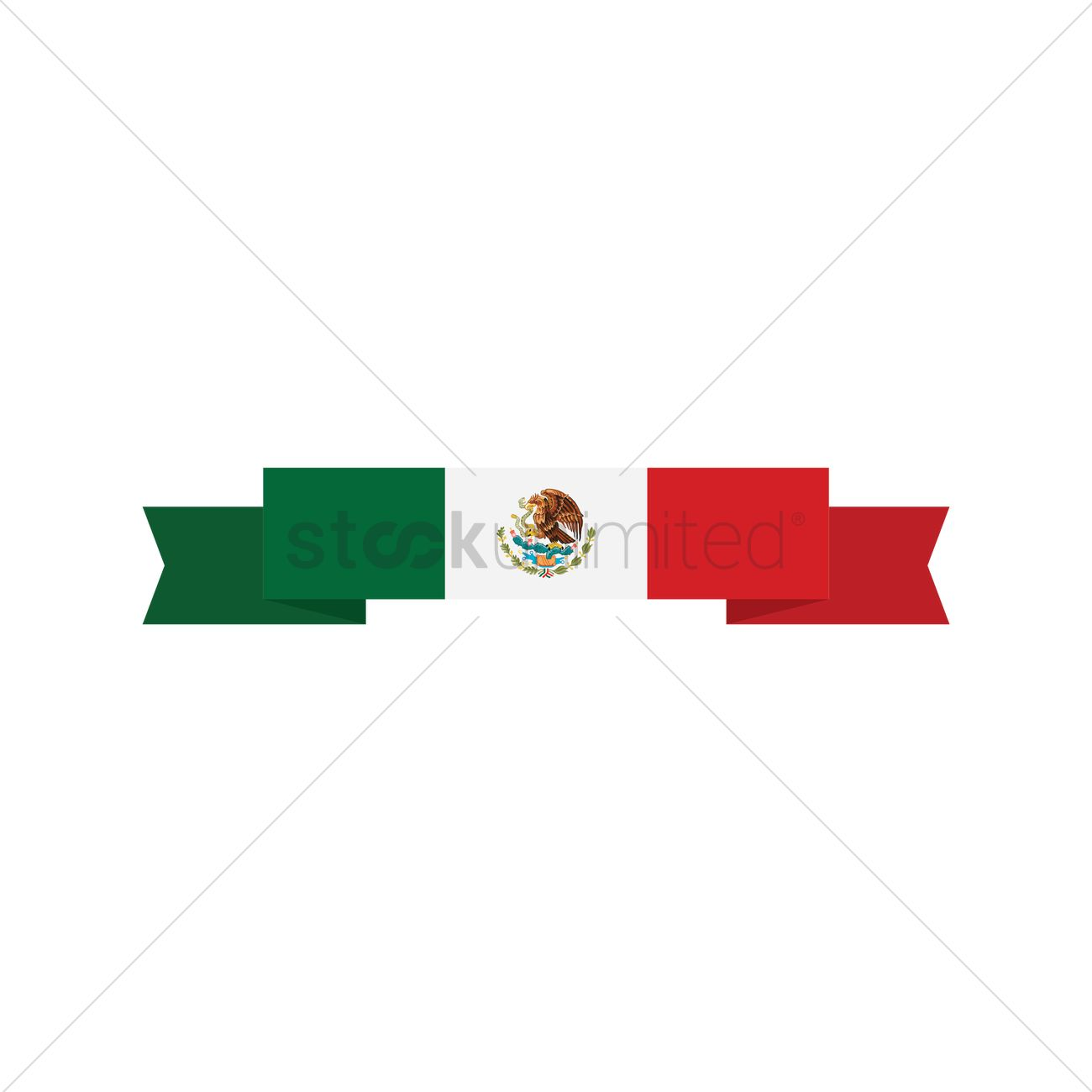 mexican flag banner vector image 1618494 stockunlimited