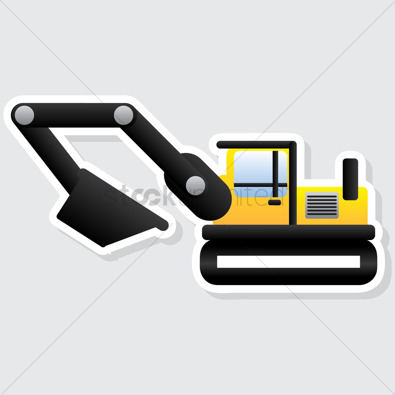 Mini excavator Vector Image - 1617686 | StockUnlimited