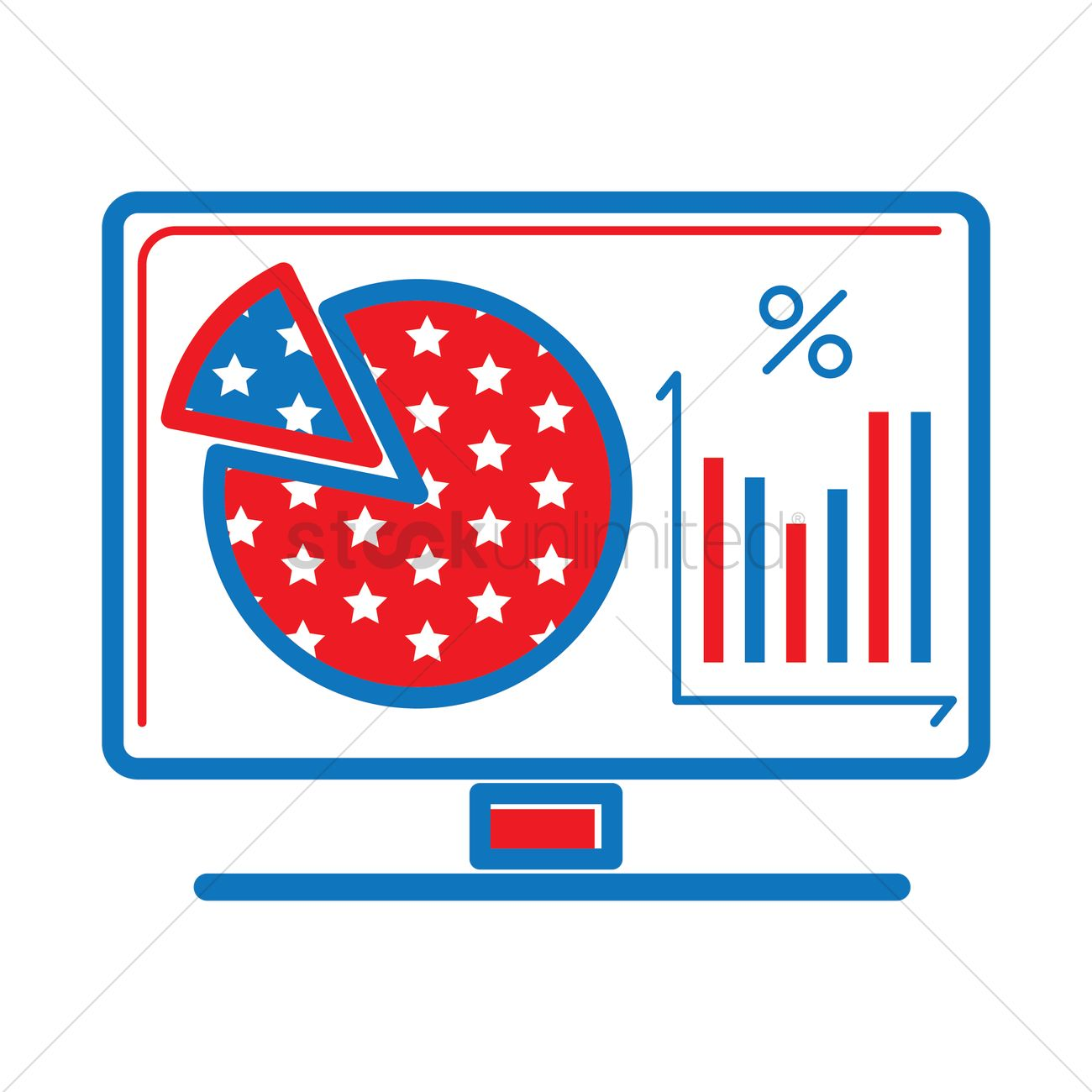 Monitor showing pie chart and bar graph vector image 1557614 monitor showing pie chart and bar graph vector graphic nvjuhfo Gallery