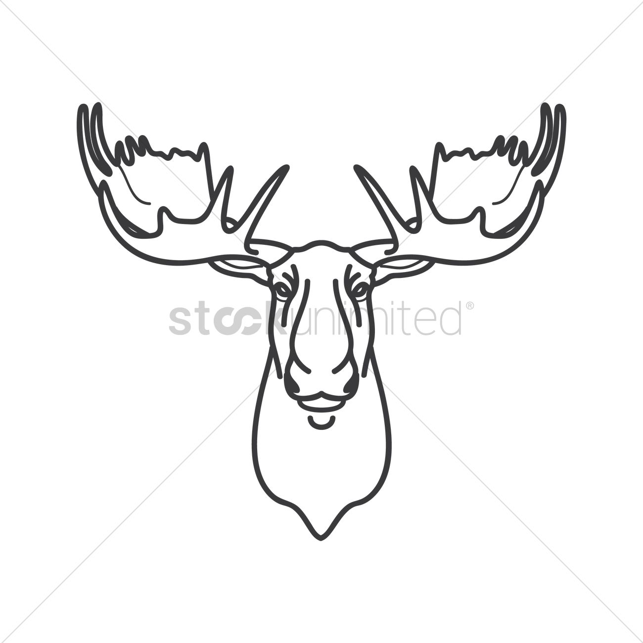 Moose Vector Image 1979782 Stockunlimited