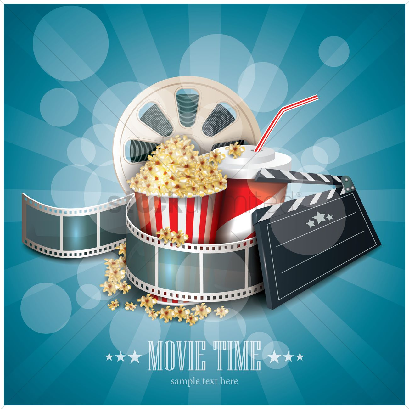 movie time wallpaper vector image - 1804978 | stockunlimited