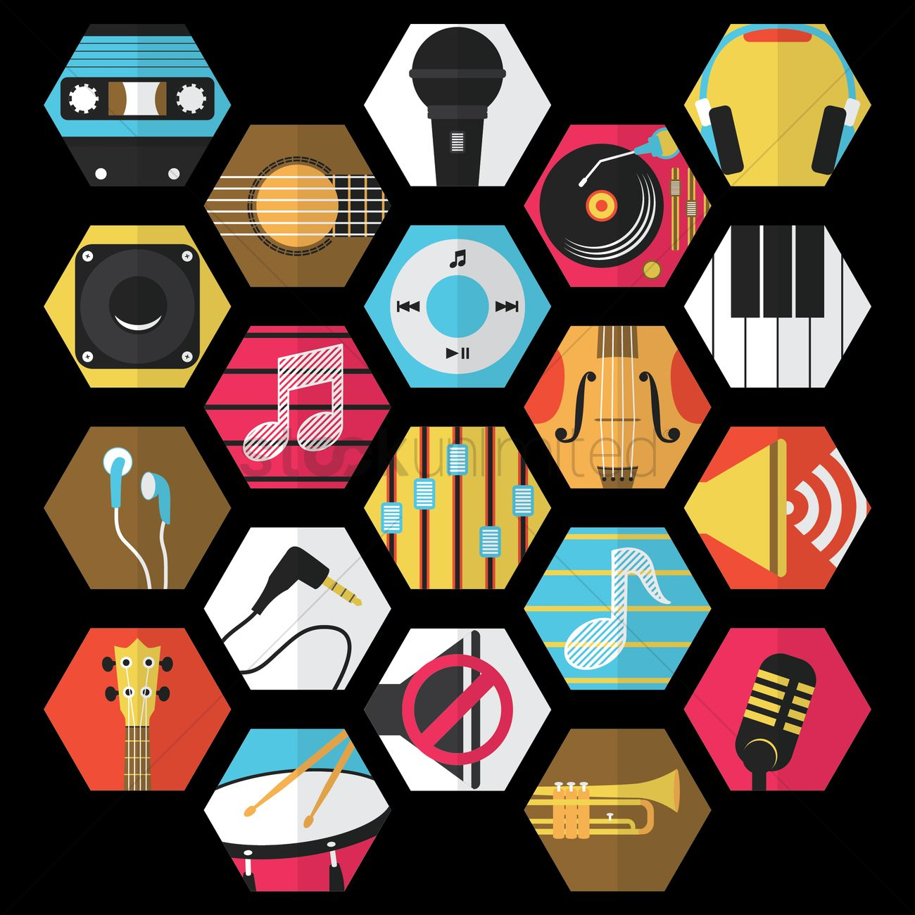 Music collection Vector Image - 1471790 | StockUnlimited