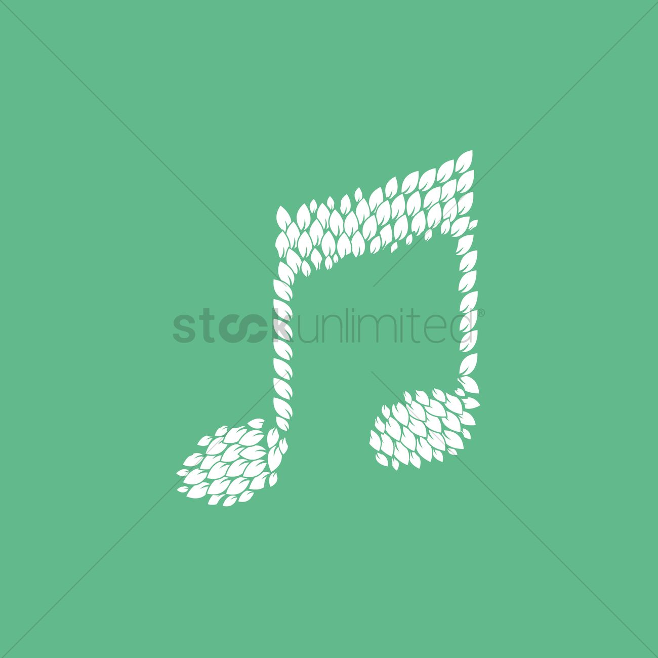 Free music symbol with leaves vector image 1261202 stockunlimited free music symbol with leaves vector graphic biocorpaavc Images