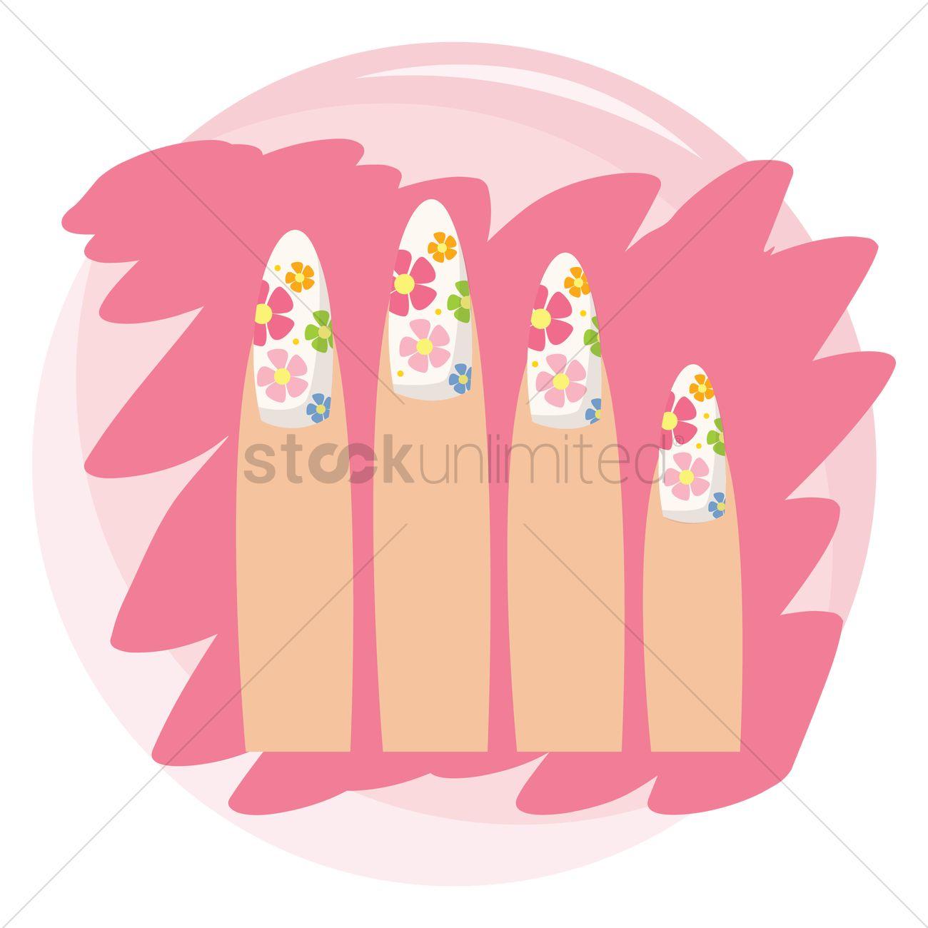 Free Nail Art Vector Image 1274618 Stockunlimited
