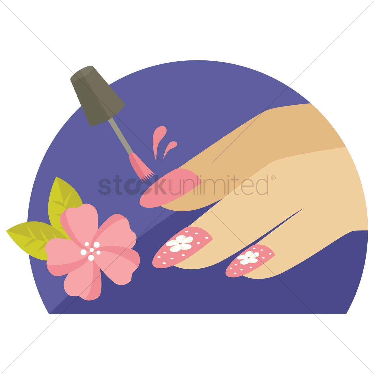 Nail Art Vector Image 1309374 Stockunlimited