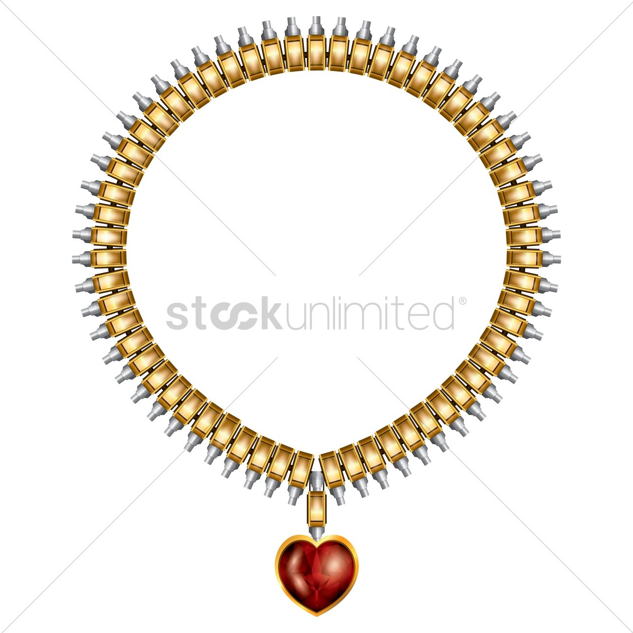 Necklace with pendant Vector Image - 1808846 | StockUnlimited