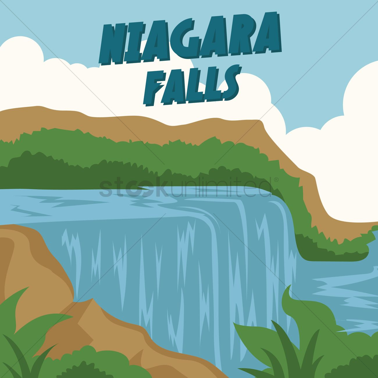 niagara falls vector image 1567202 stockunlimited clipart tourist guide tourist clipart pictures