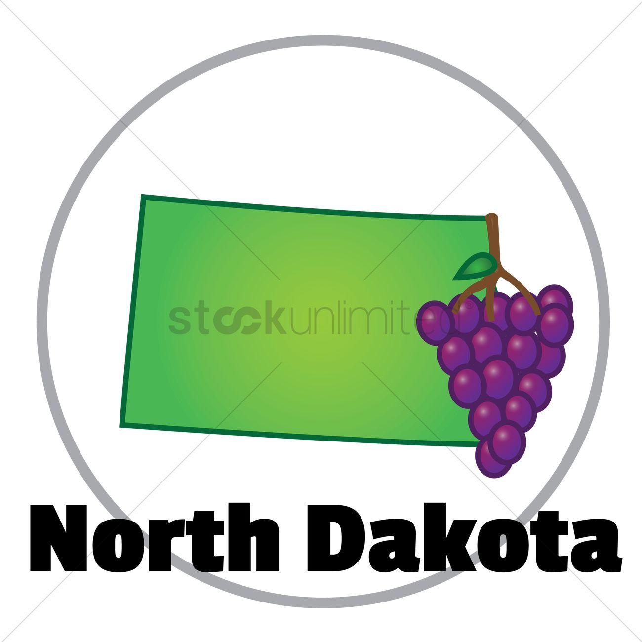 North dakota state map Vector Image - 1556402 | StockUnlimited