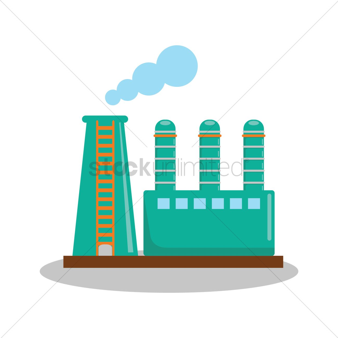 Oil Refinery Plant Vector Image - 1335650