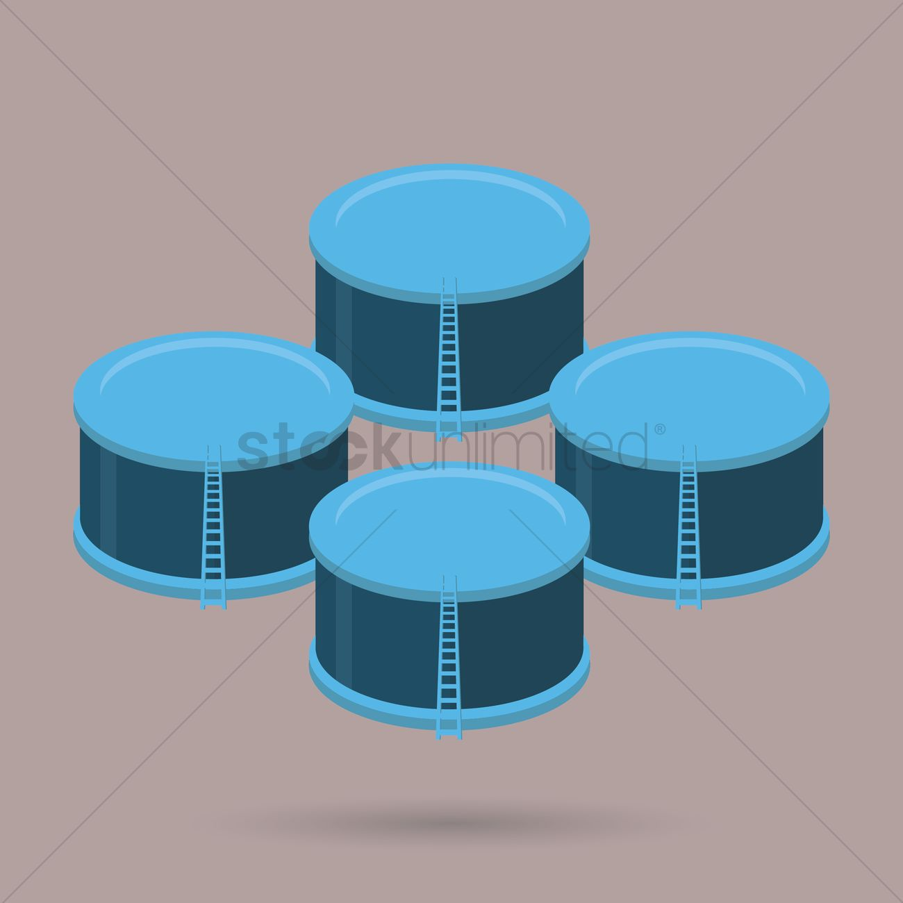 Free Oil storage container Vector Image 1283178 StockUnlimited
