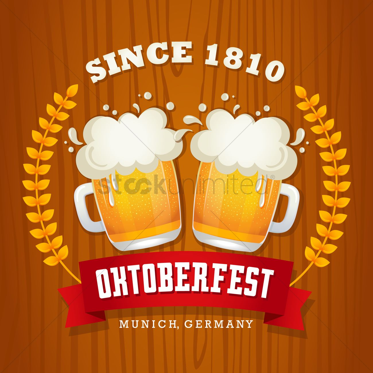 Oktoberfest wallpaper Vector Image - 1480678 | StockUnlimited