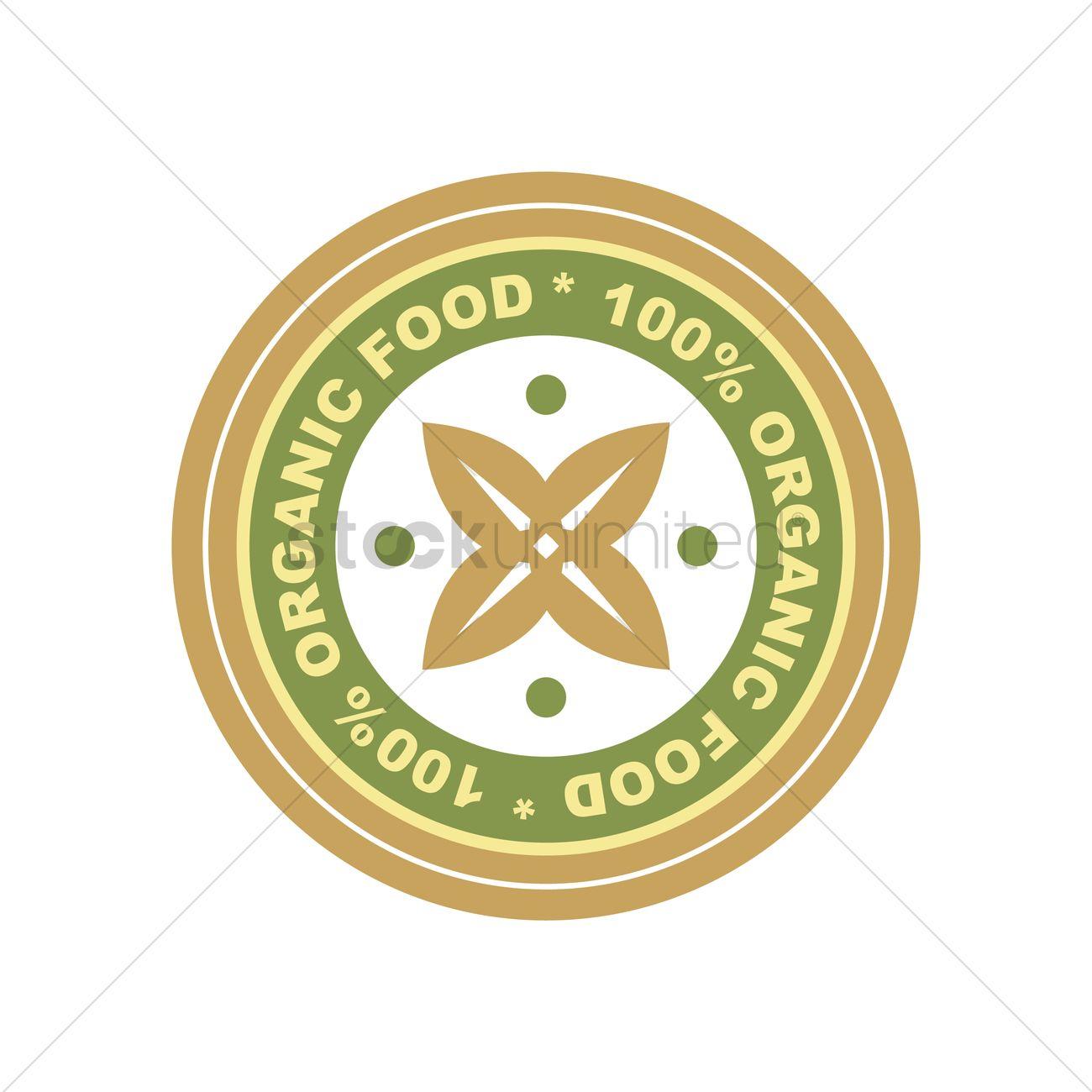 Organic food label design Vector Image - 2029882