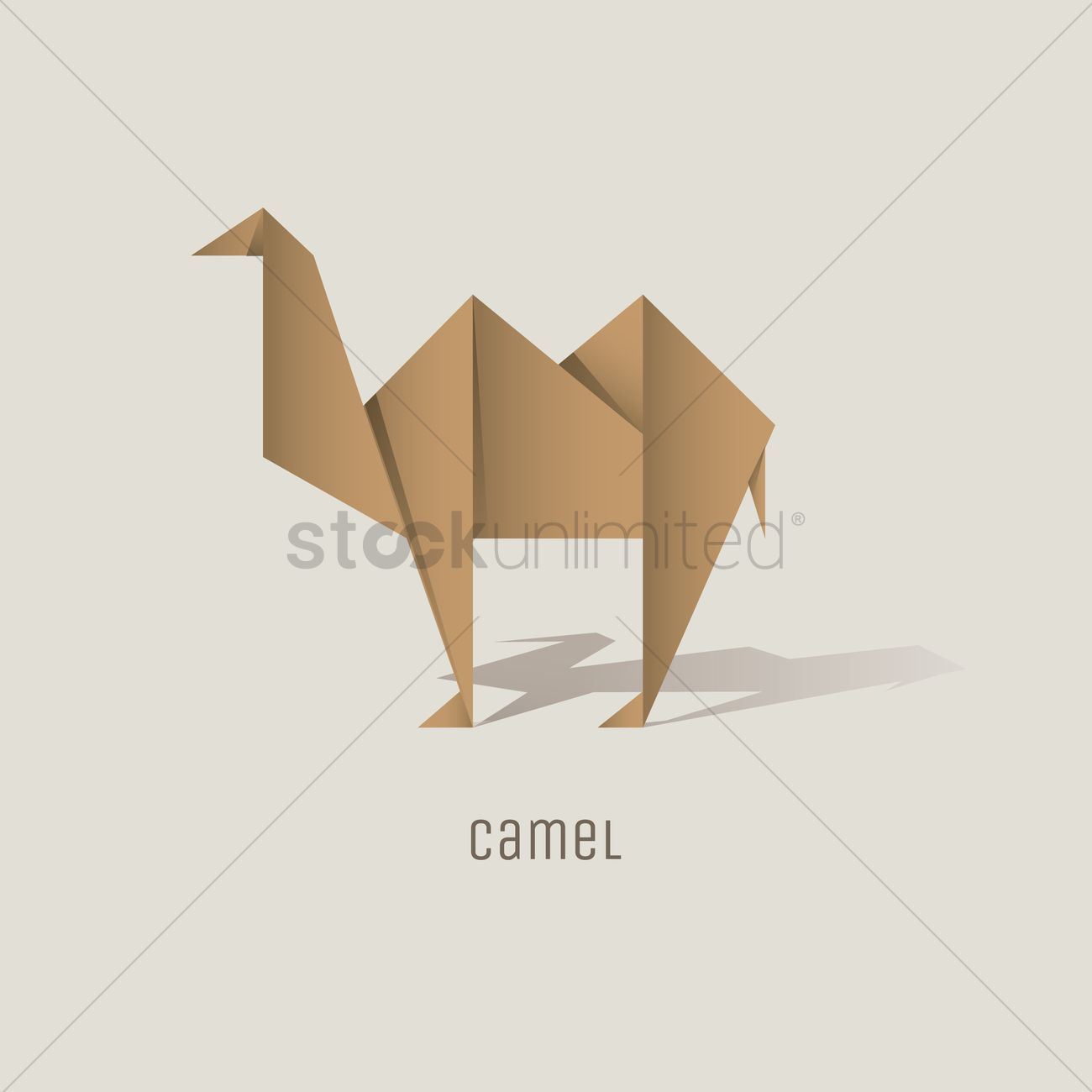 Origami Camel Vector Graphic