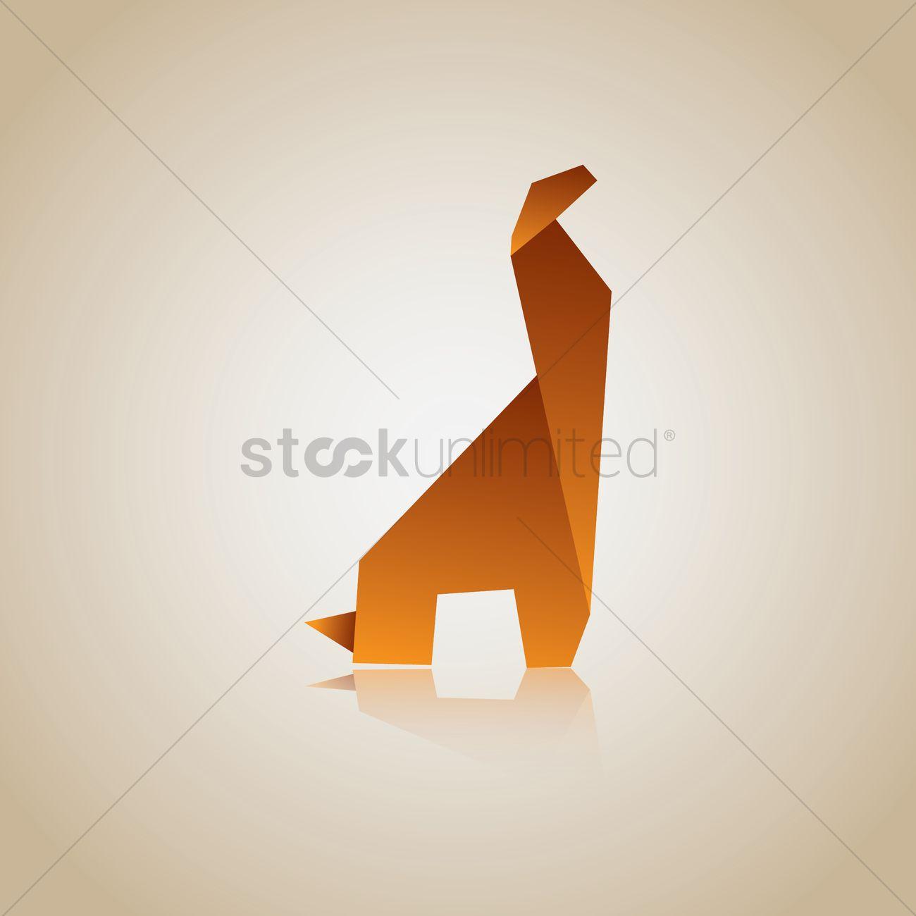 Free Origami Giraffe Vector Graphic