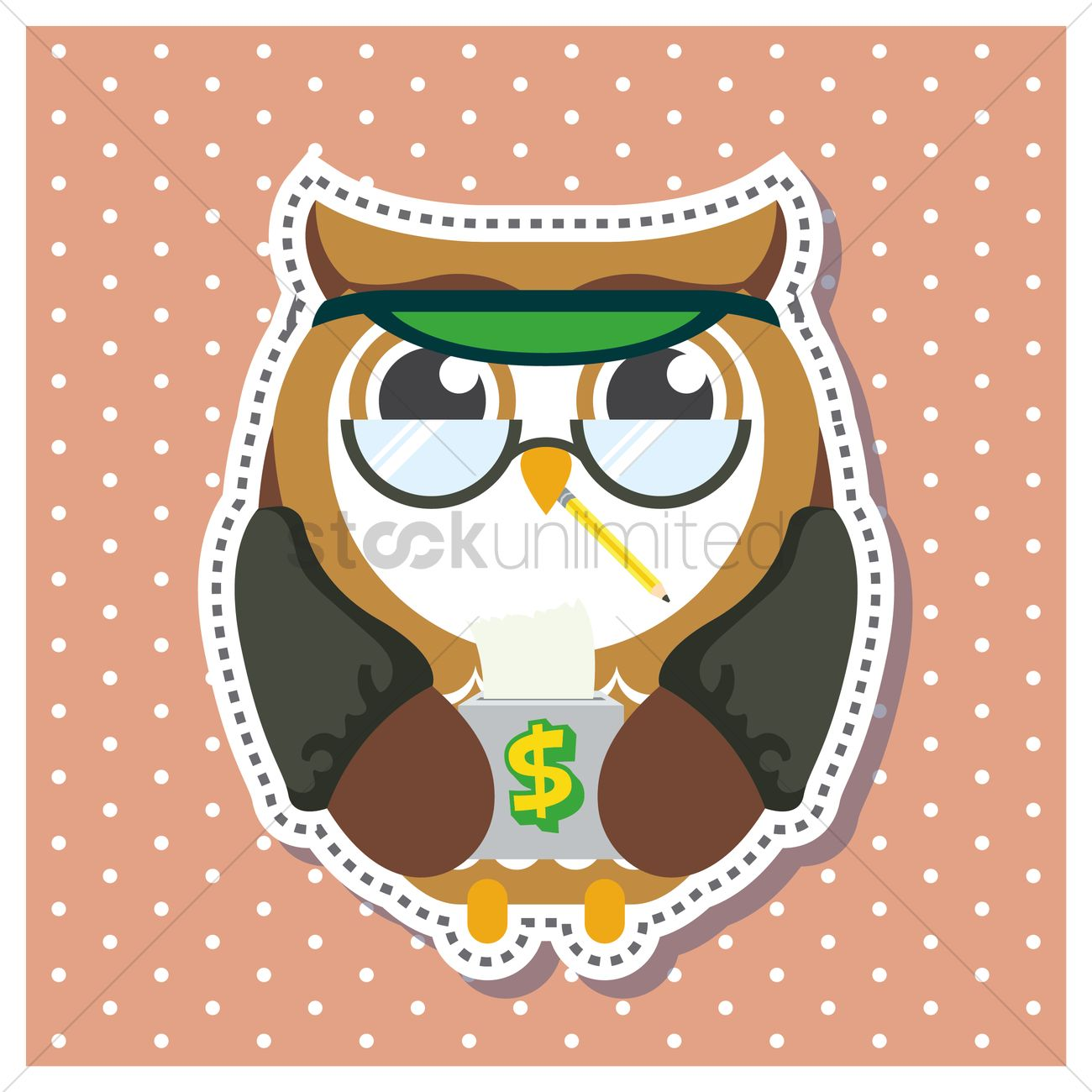 free owl as a banker vector image 1410014 stockunlimited
