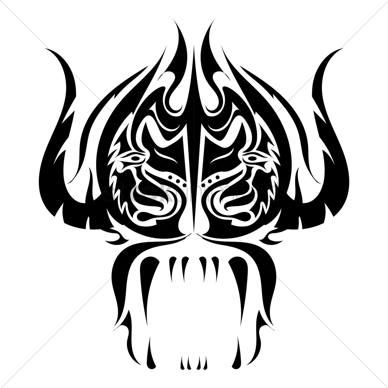 Ox tattoo design vector image 1433374 stockunlimited ox tattoo design vector graphic buycottarizona