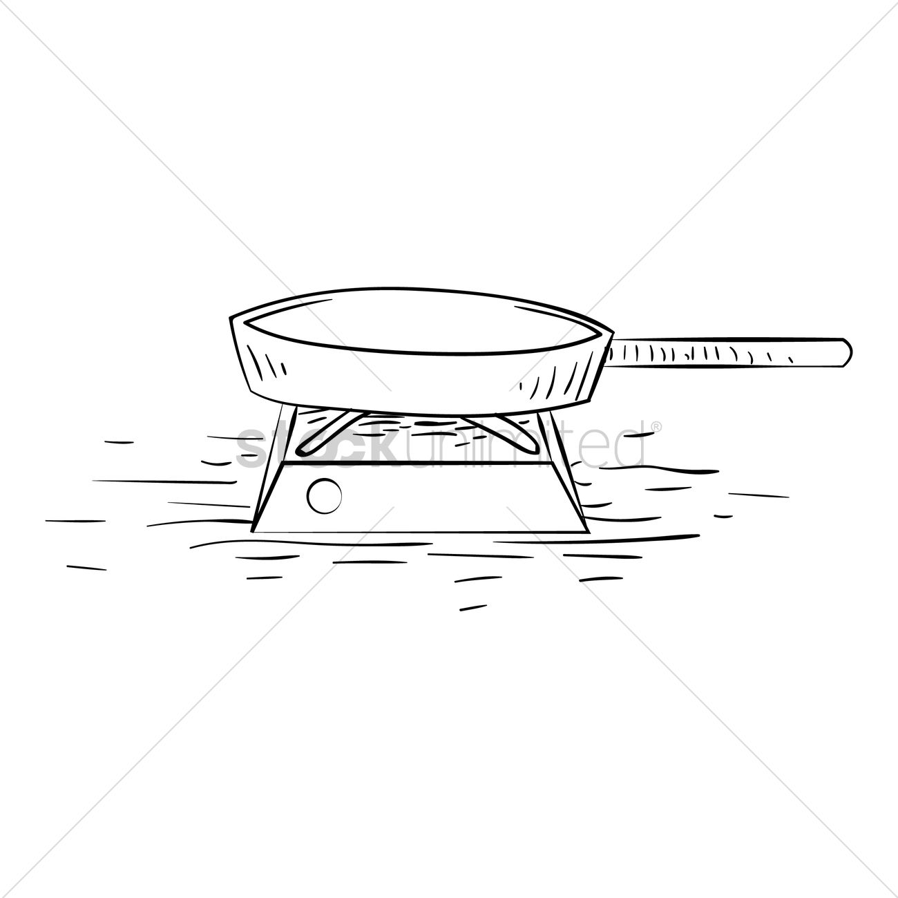 Free Pan on gas stove Vector Image 1567314 StockUnlimited