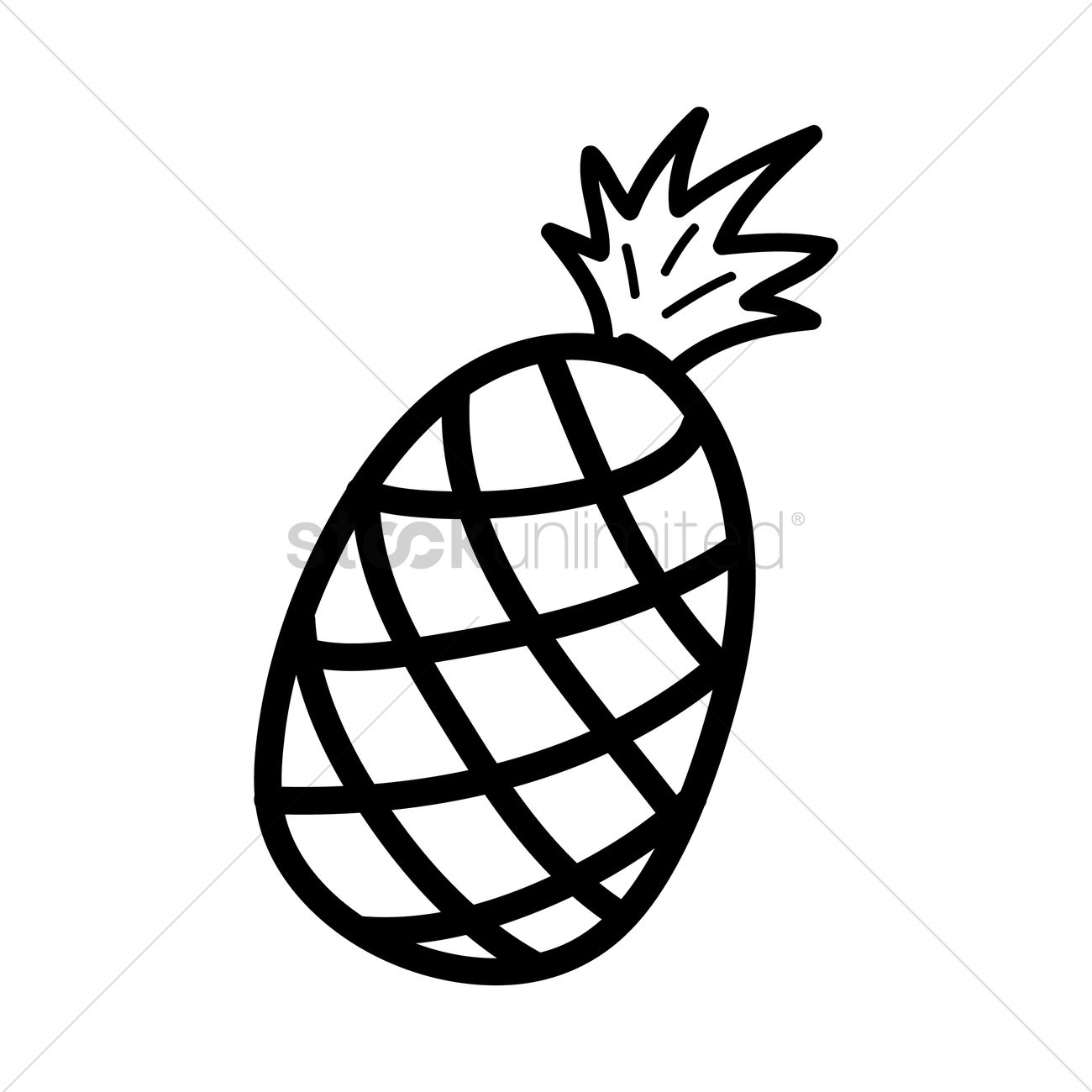 Pineapple Vector Image - 1460674 | StockUnlimited for Clipart Pineapple Black And White  174mzq