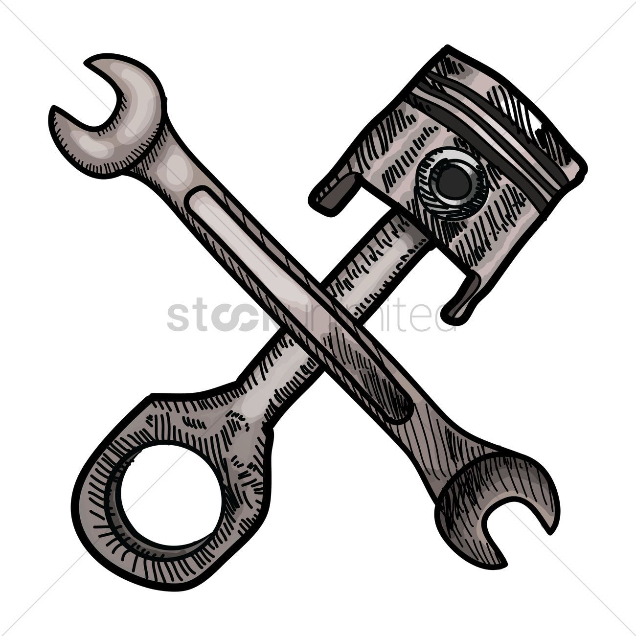 piston and spanner vector image 1459962 stockunlimited. Black Bedroom Furniture Sets. Home Design Ideas