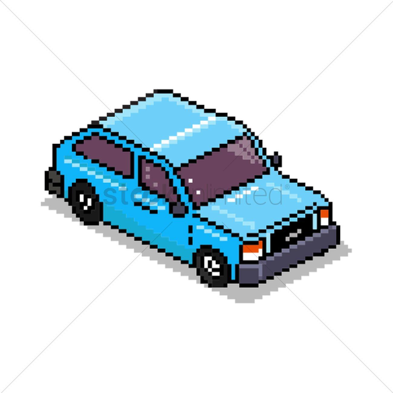 Pixel Art Car Vector Image 1959074 Stockunlimited