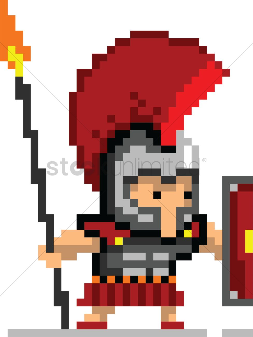 Pixel Art Gaming Character Vector Image 2022330