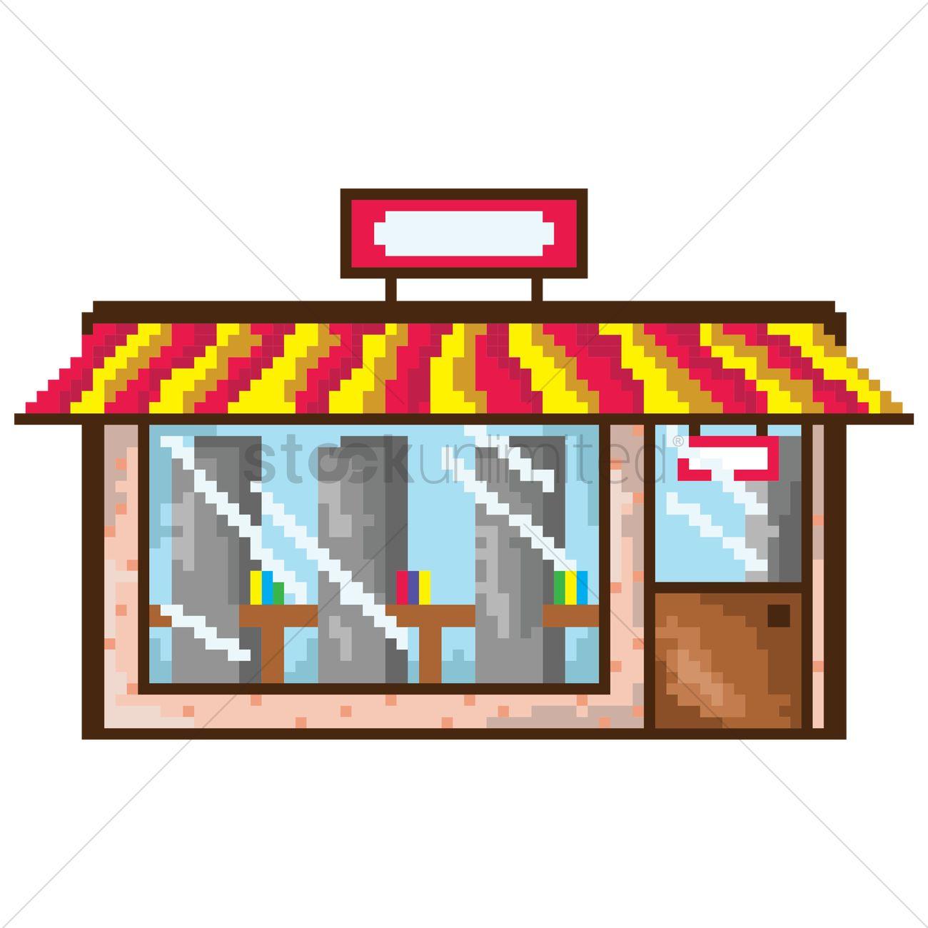 Pixel Art Restaurant Vector Image 1958382 Stockunlimited