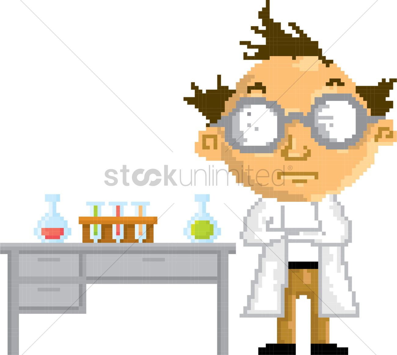 pixel art scientist vector image 2016134 stockunlimited pixel art scientist vector image