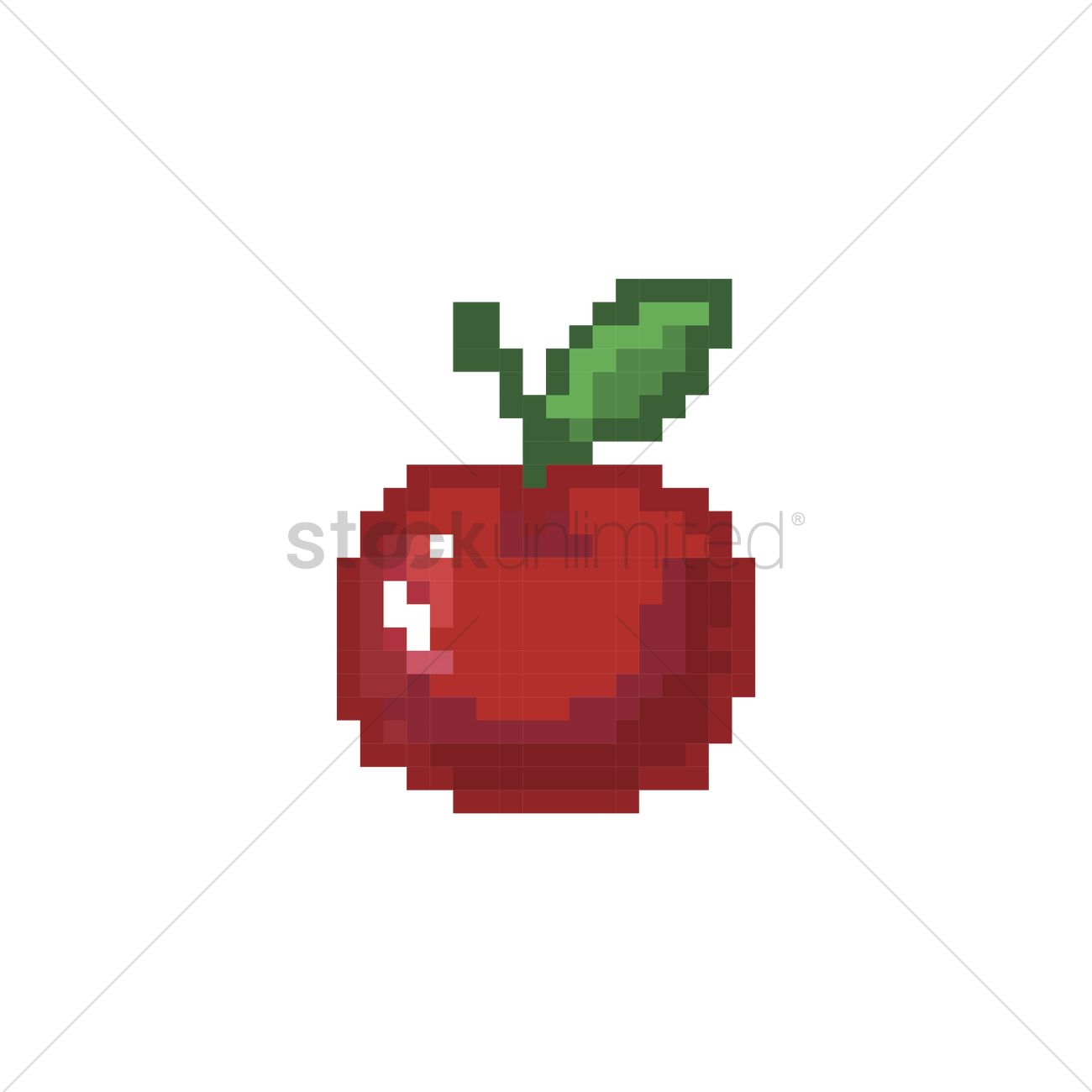 Pixelated Apple Vector Image - 2008686
