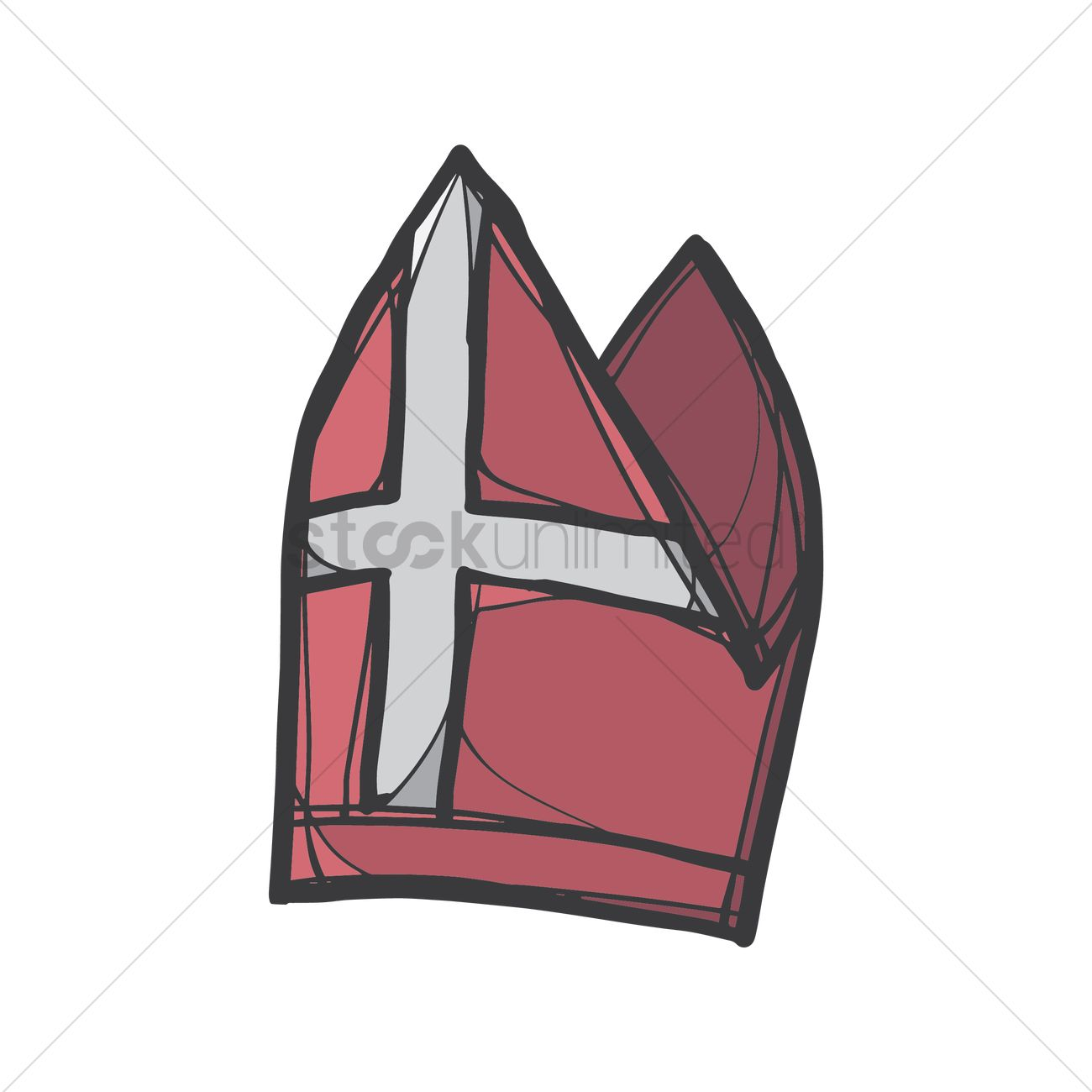 Pope Hat Vector Image 2014486 Stockunlimited