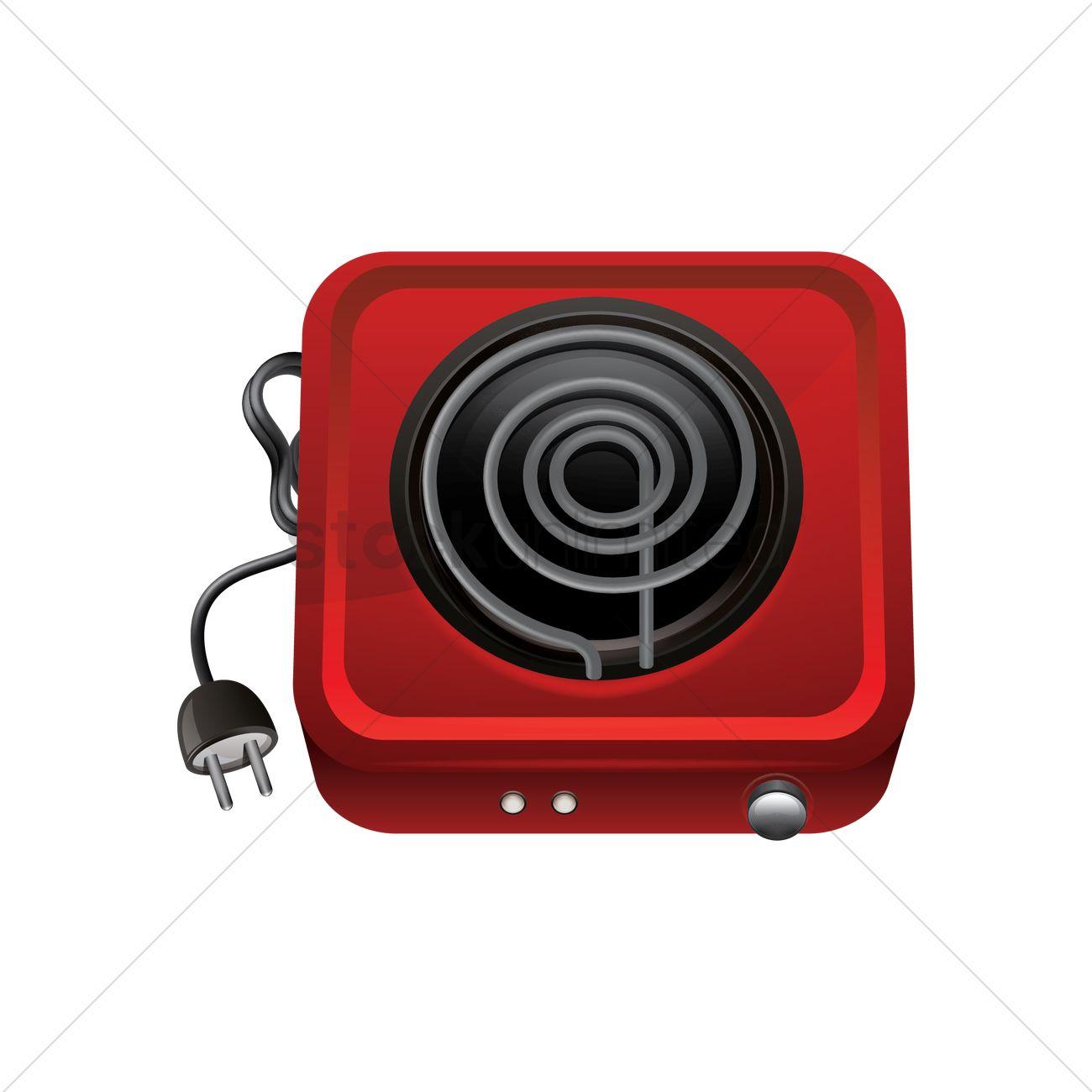 portable electric stove vector image 1812650 stockunlimited. Black Bedroom Furniture Sets. Home Design Ideas